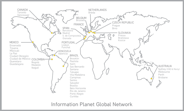kancelare information planet po celem svete