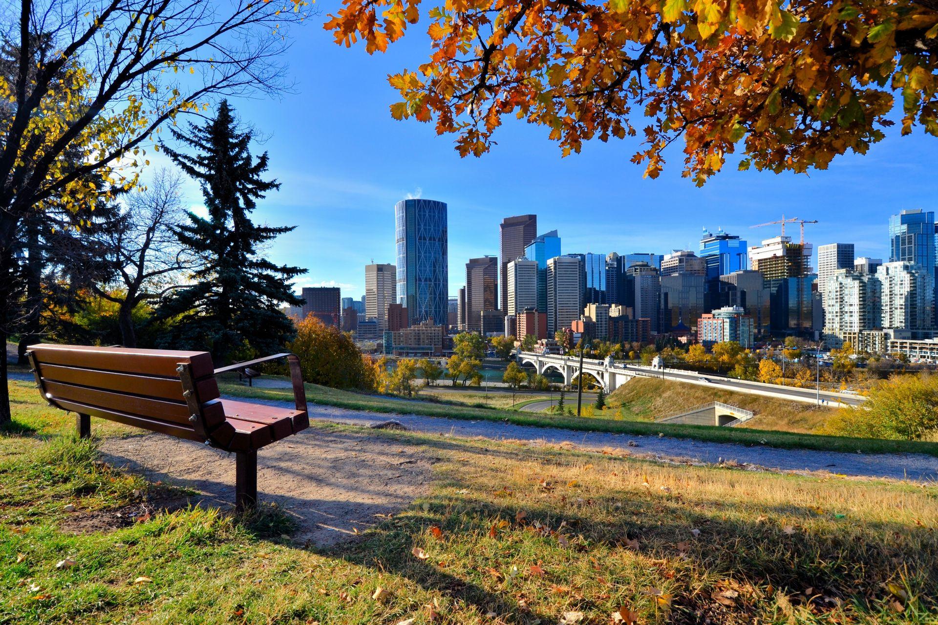 Pohled na Calgary