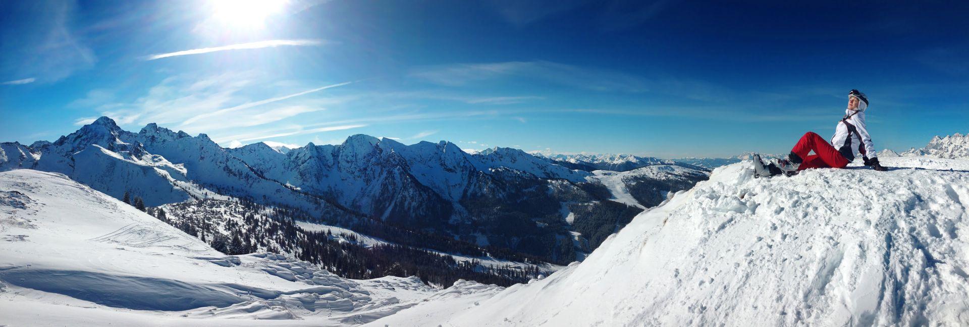 lyžování v rocky mountains