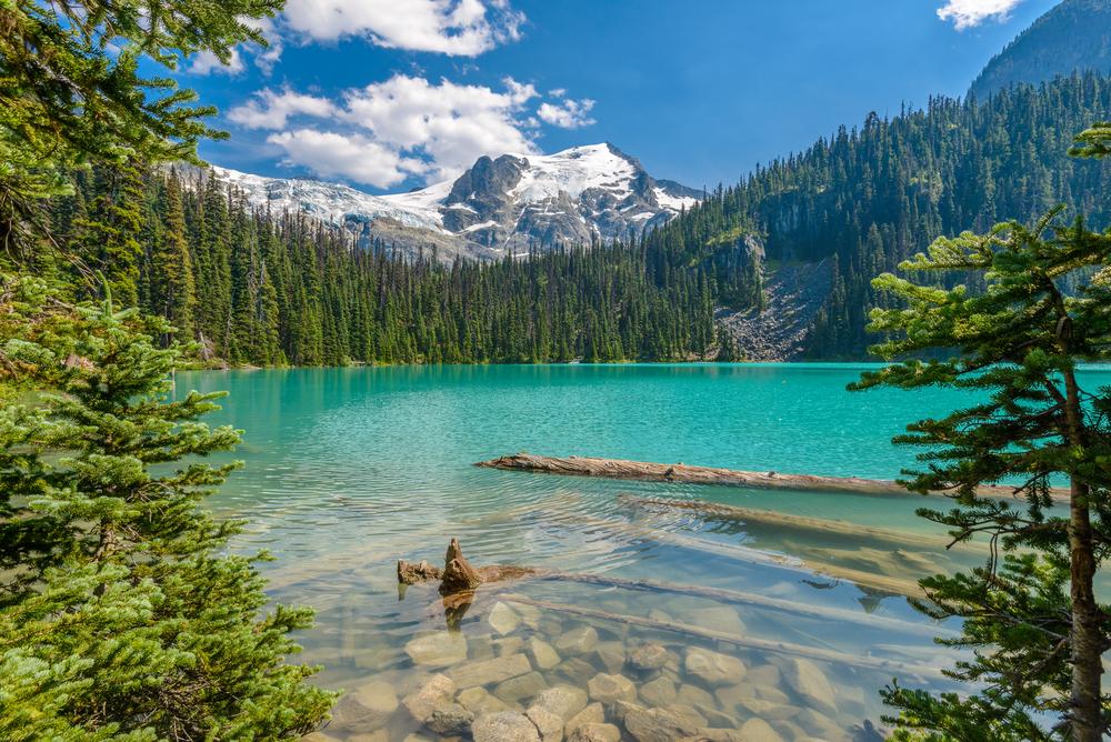 Jezero ve Whistleru v Kanadě